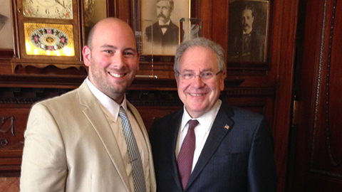 Joseph Weeks and Speaker DeLeo